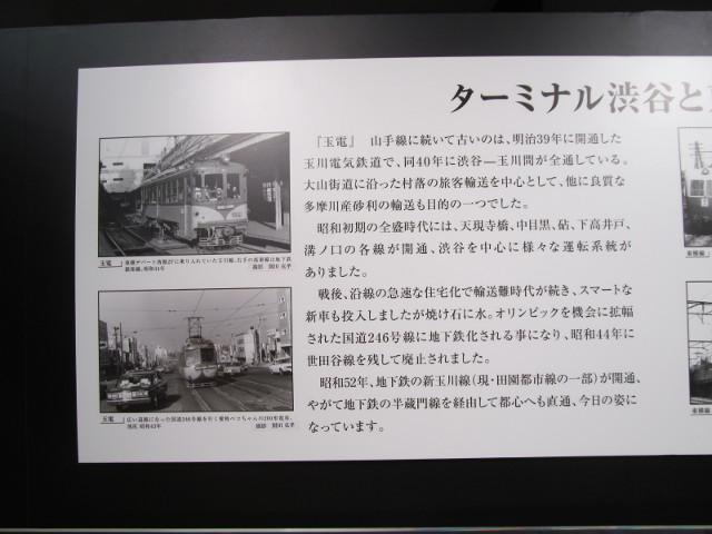 東急プラザ渋谷タイムスリップギャラリー渋谷と東急線2