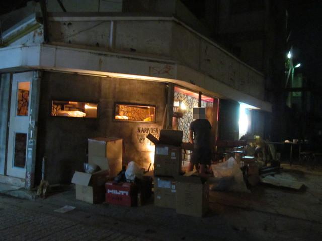 開店前夜のKARIYUSHICOFFEESTAND