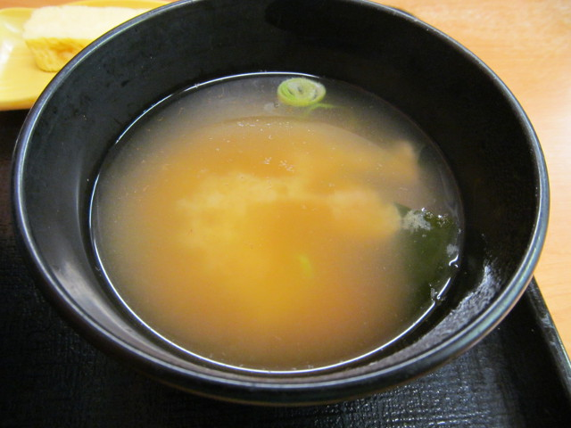 吉野家豆腐ぶっかけ飯鯛だし味のみそ汁