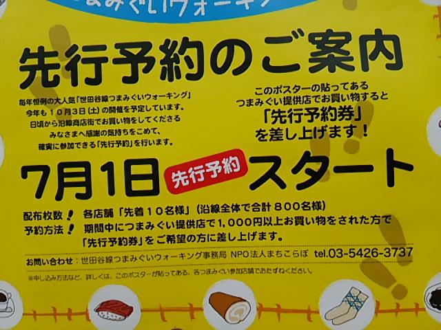 世田谷線つまみぐいウォーキング2015先行予約のポスターアップ3
