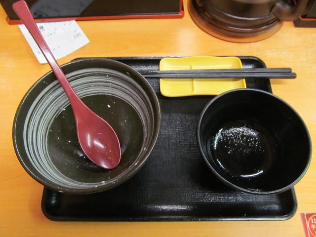 吉野家豆腐ぶっかけ飯鯛だし味を完食完飲