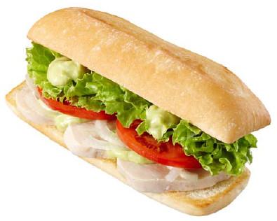 サラダチキンサンドアボカドソース