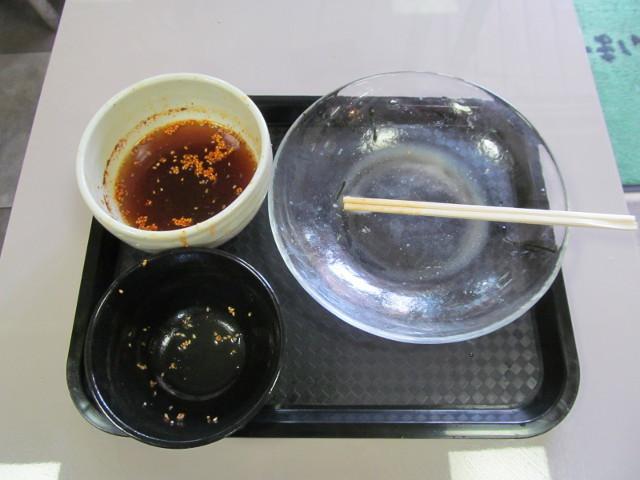 かしわや三軒茶屋店特製ラー油肉そばを完食