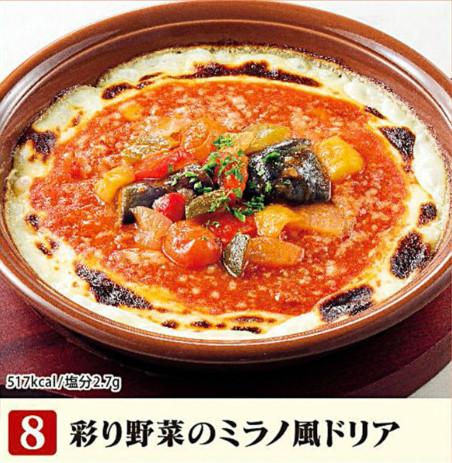 サイゼリヤ彩り野菜のミラノ風ドリア