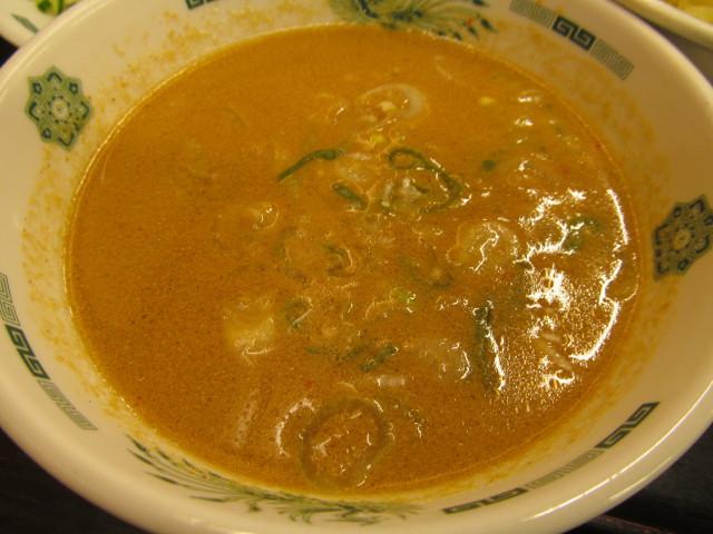 日高屋ごま味噌冷しの冷製スープ