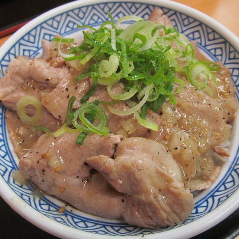 吉野家ねぎ塩ロース豚丼サムネイル