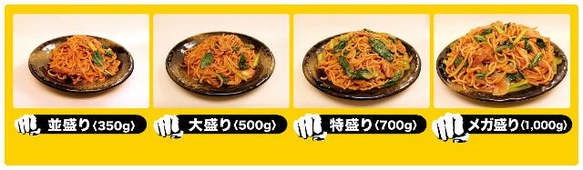 ロメスパバルボア選べる麺の量