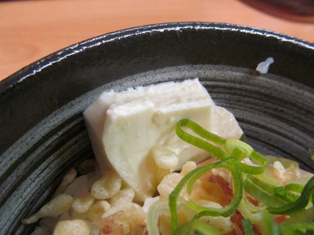 吉野家豆腐ぶっかけ飯鯛だし味の豆腐