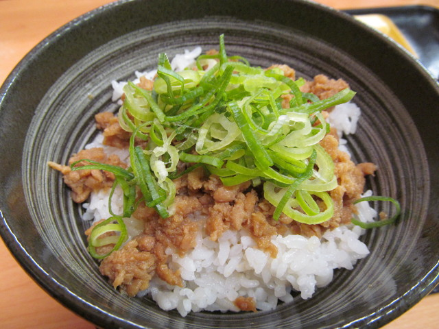 吉野家鶏そぼろ飯の飯