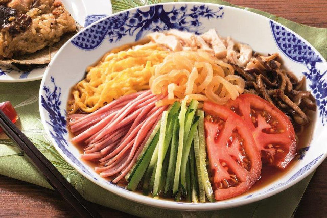 バーミヤン特製七彩の冷し中華