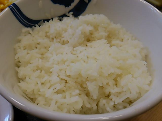 松屋ガーリックチキン定食ライス大盛の大盛ライス