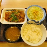 松屋ガーリックチキン定食ライス大盛サムネイル