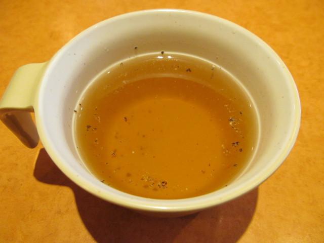 サイゼリヤホワイトソースのハンバーグのスープ