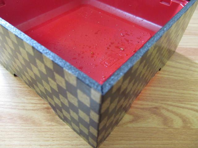 サミット鰻重の上げ底の容器