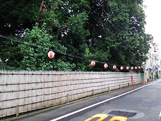 ホタル祭りとサギ草市2015前日朝の代官屋敷沿いの提灯