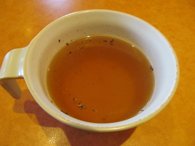 サイゼリヤデミグラスソースのハンバーグのスープ