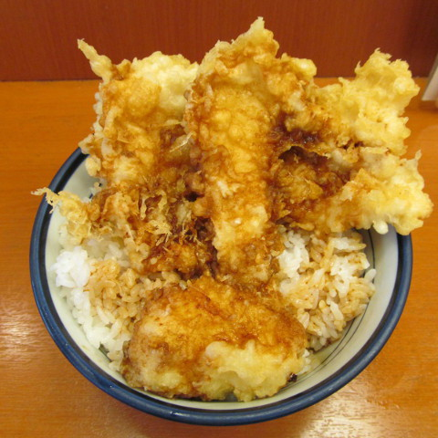 天丼てんやWソース鶏天丼ご飯大盛サムネイル
