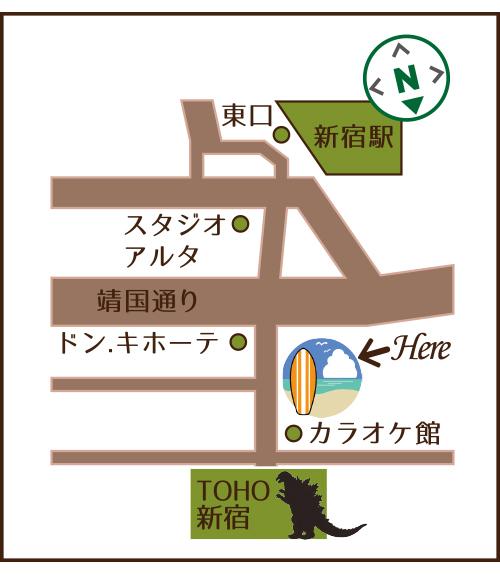 ジョバンニーズ東京店地図