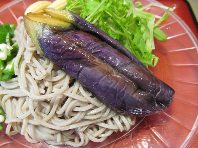 富士そば冷し夏野菜カレーつけ蕎麦の冷なす