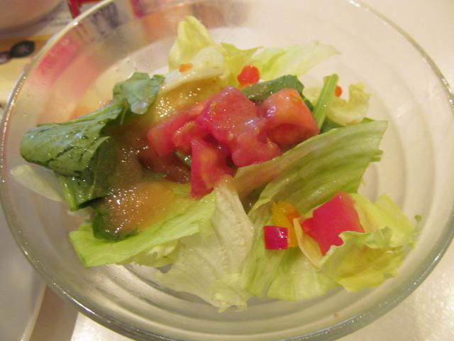 ガスト酸辣湯うどんランチのミニサラダ