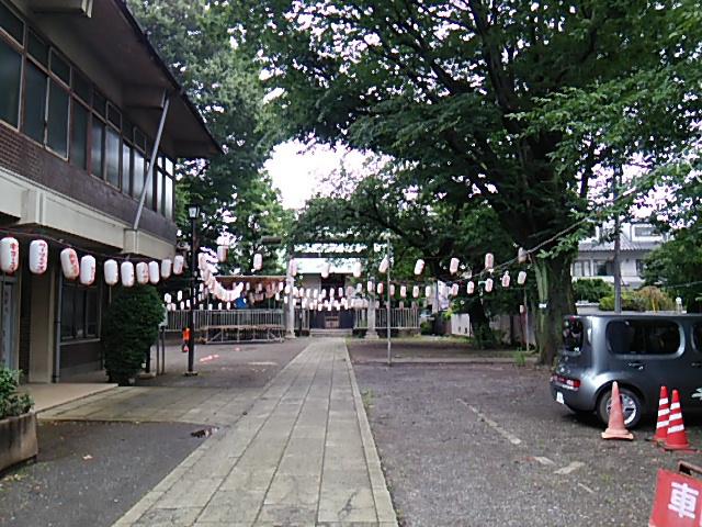 ホタル祭りとサギ草市2015前日朝の天祖神社の参道