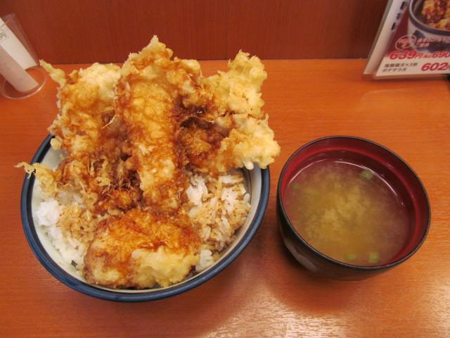 天丼てんやWソース鶏天丼ご飯大盛