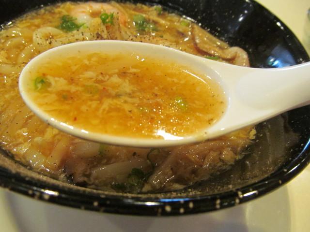 ガスト酸辣湯うどんランチの酸辣湯