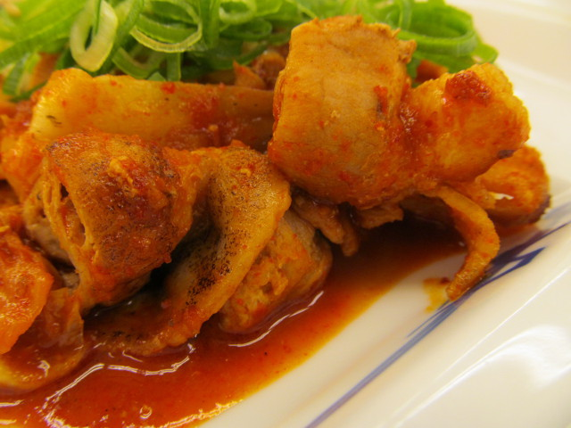 松屋豚キムチ定食ライス大盛の豚肉