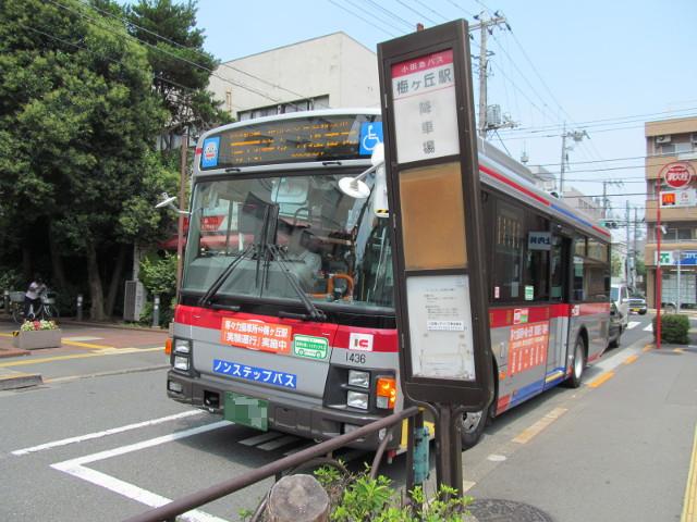 降車専用ポストと等13系統一番バス