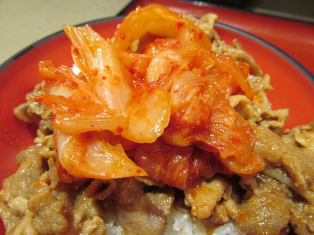 ミニ豚バラキムチ丼セットのキムチ