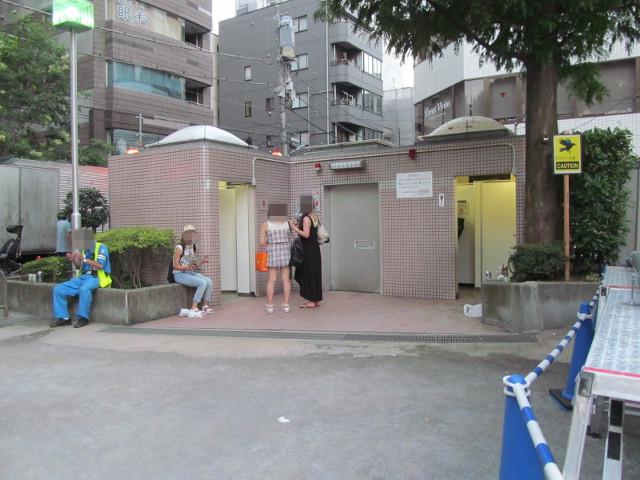 空いている網代公園の手洗20150822