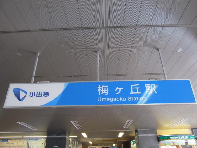 梅ヶ丘駅に到着20150803
