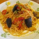 サイゼリヤ彩り野菜のトマトソーススパゲッティサムネイル