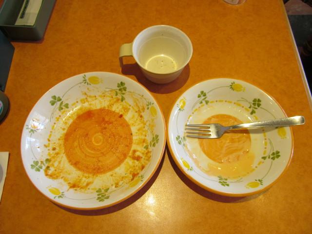 サイゼリヤ彩り野菜のトマトソーススパゲッティを完食