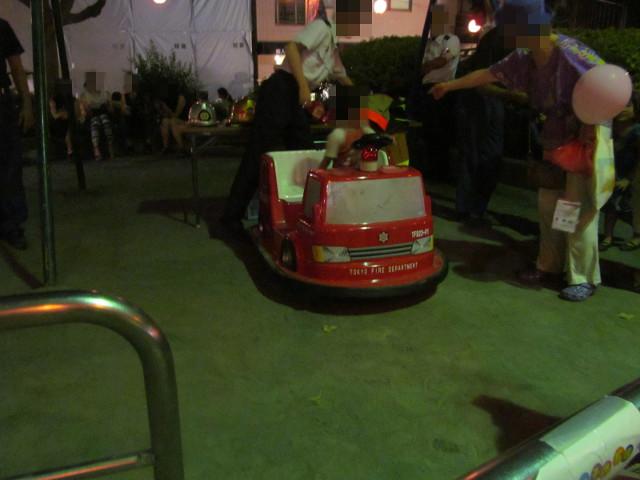 麻布十番納涼まつり2015の2日目のミニ消防車