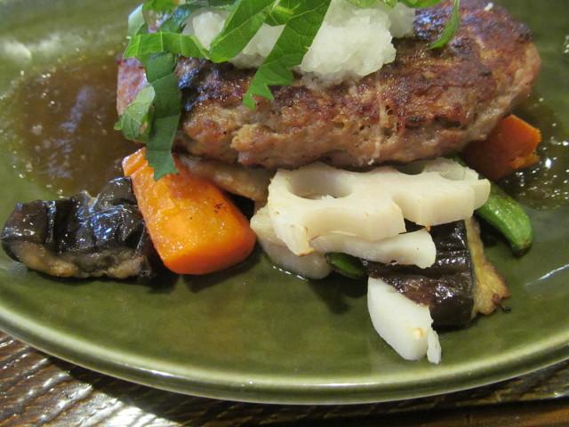 ガスト大葉おろしのビーフハンバーグ和膳の野菜たち