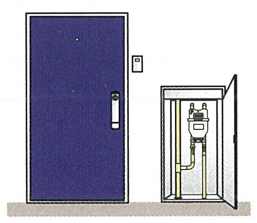 ガスメーターの場所の例