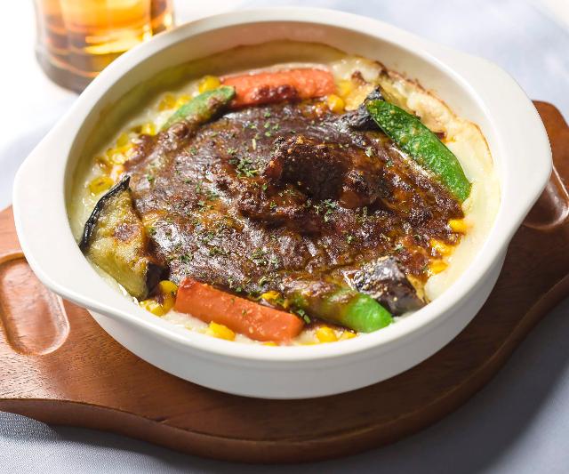 ガスト彩り野菜の濃厚ビーフシチュードリア写真