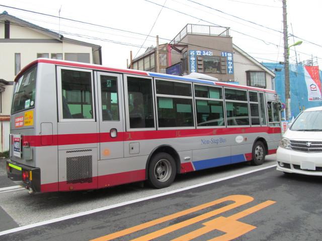 行ってしまった梅ヶ丘方面一番バス