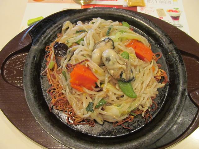 ガスト広島産牡蠣のあんかけ焼きそば20151029