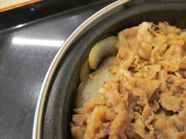 吉野家牛すき鍋膳の玉ねぎ
