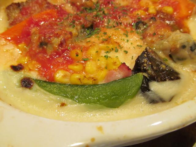 ガスト牡蠣のクリーミードリアのスナップエンドウ