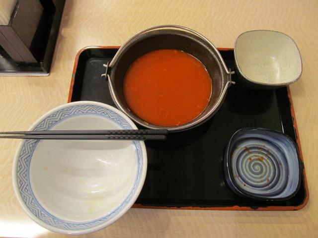 吉野家牛チゲ鍋膳を完食