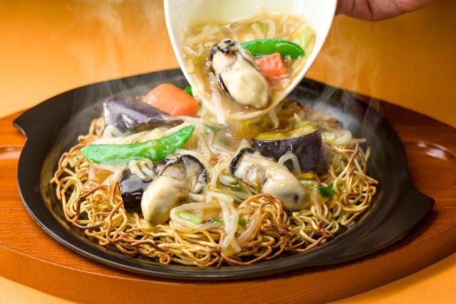 ガスト広島産牡蠣のあんかけ焼きそば