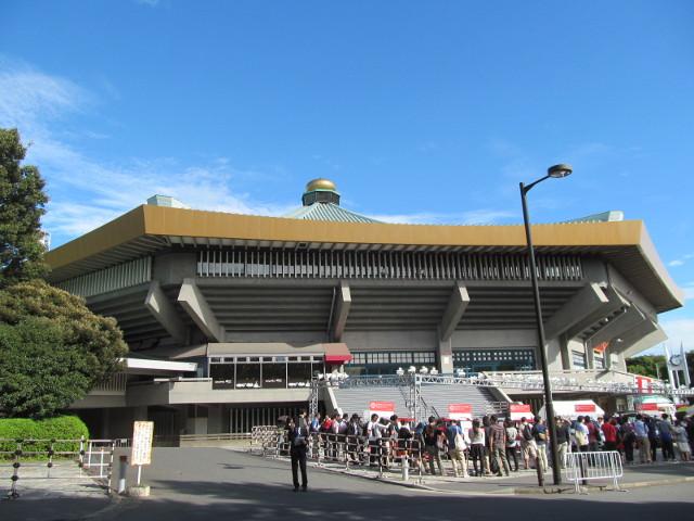 日本武道館に到着20151002