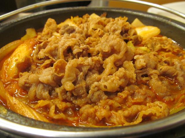 吉野家牛チゲ鍋膳の牛肉