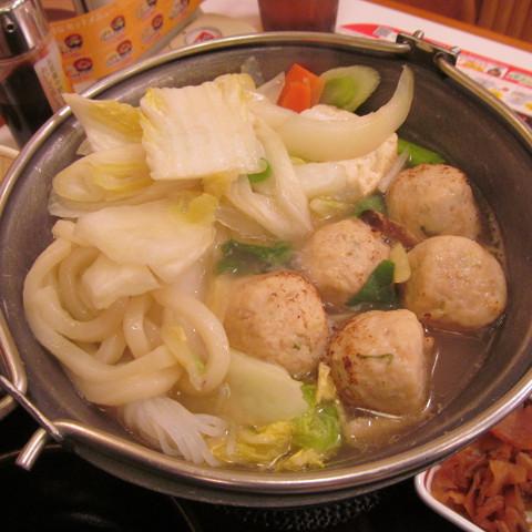 すき家鶏つくね鍋定食ごはん大盛サムネイル