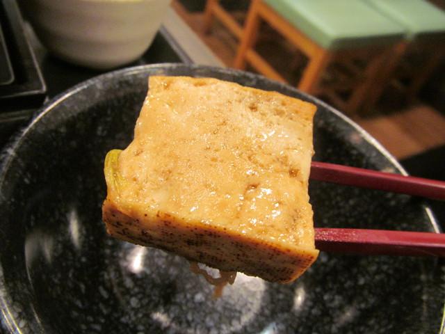 なか卯牛すき焼き鍋膳ごはん大盛の焼き豆腐