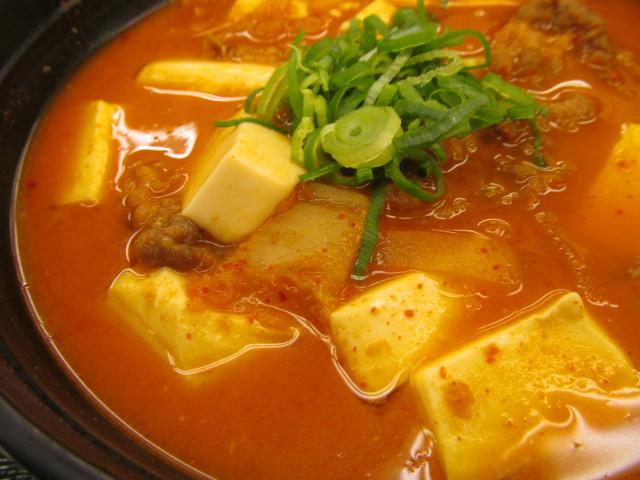 松屋豆腐キムチチゲ膳のキムチ