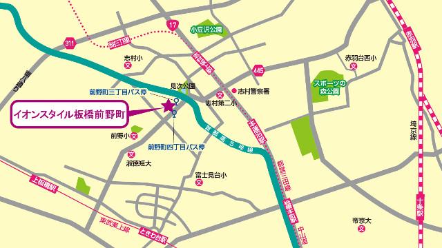イオンスタイル板橋前野町地図640